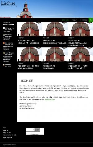 Skärmdump av Lisch.se...